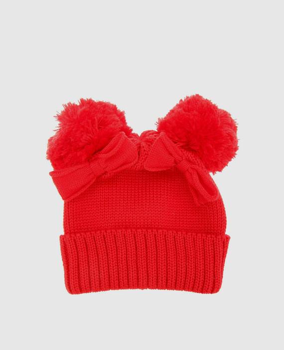 Детская красная шапка