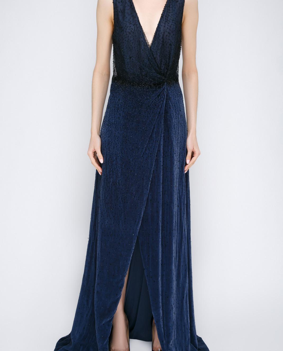 Dennis Basso Синее платье 13508 изображение 3