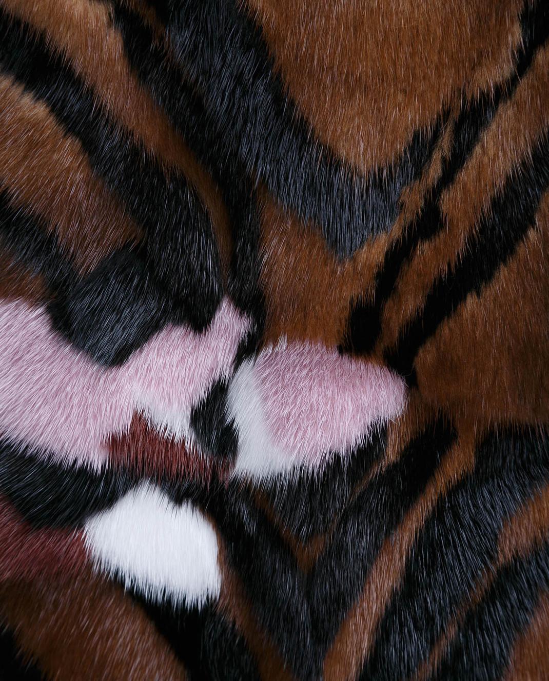 Florence Mode Коричневая шуба из меха норки L1837 изображение 5