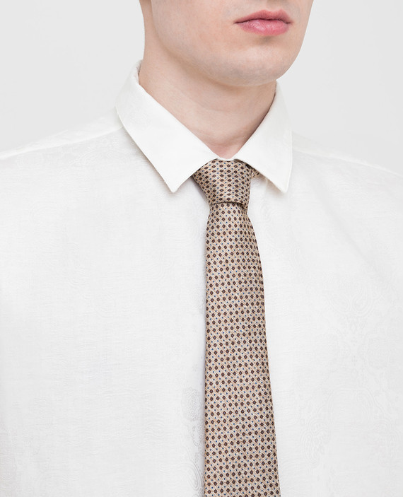 Бежевый галстук из шелка hover
