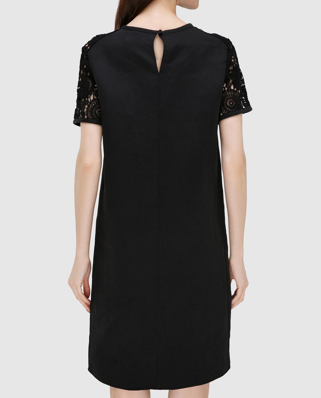 Chloe Черное платье из кружева 17SRO60 изображение 3