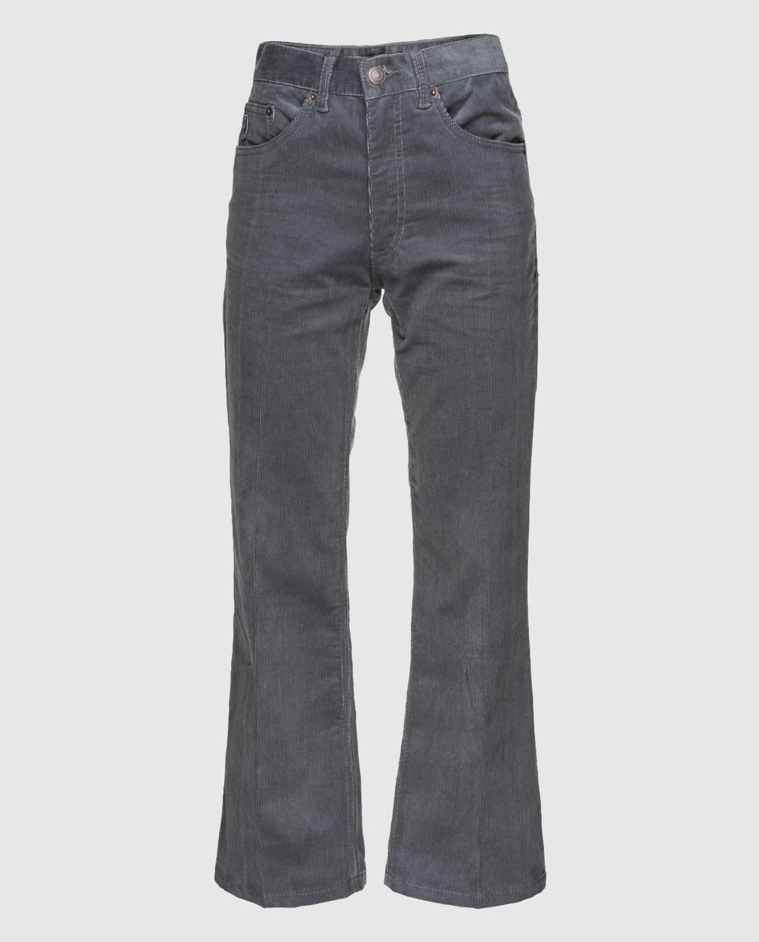 Marc Jacobs Серые вельветовые брюки M4007092