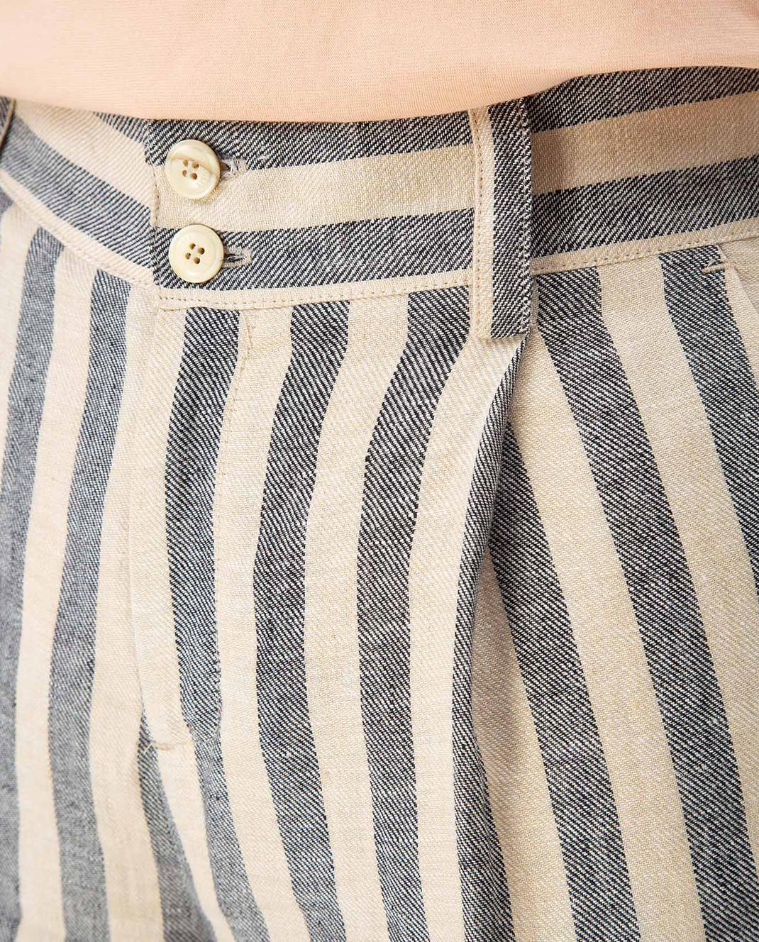Twin Set Бежевые шорты из льна изображение 5