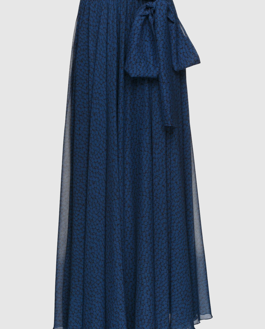 Alexander Terekhov Синяя юбка из шелка SK011