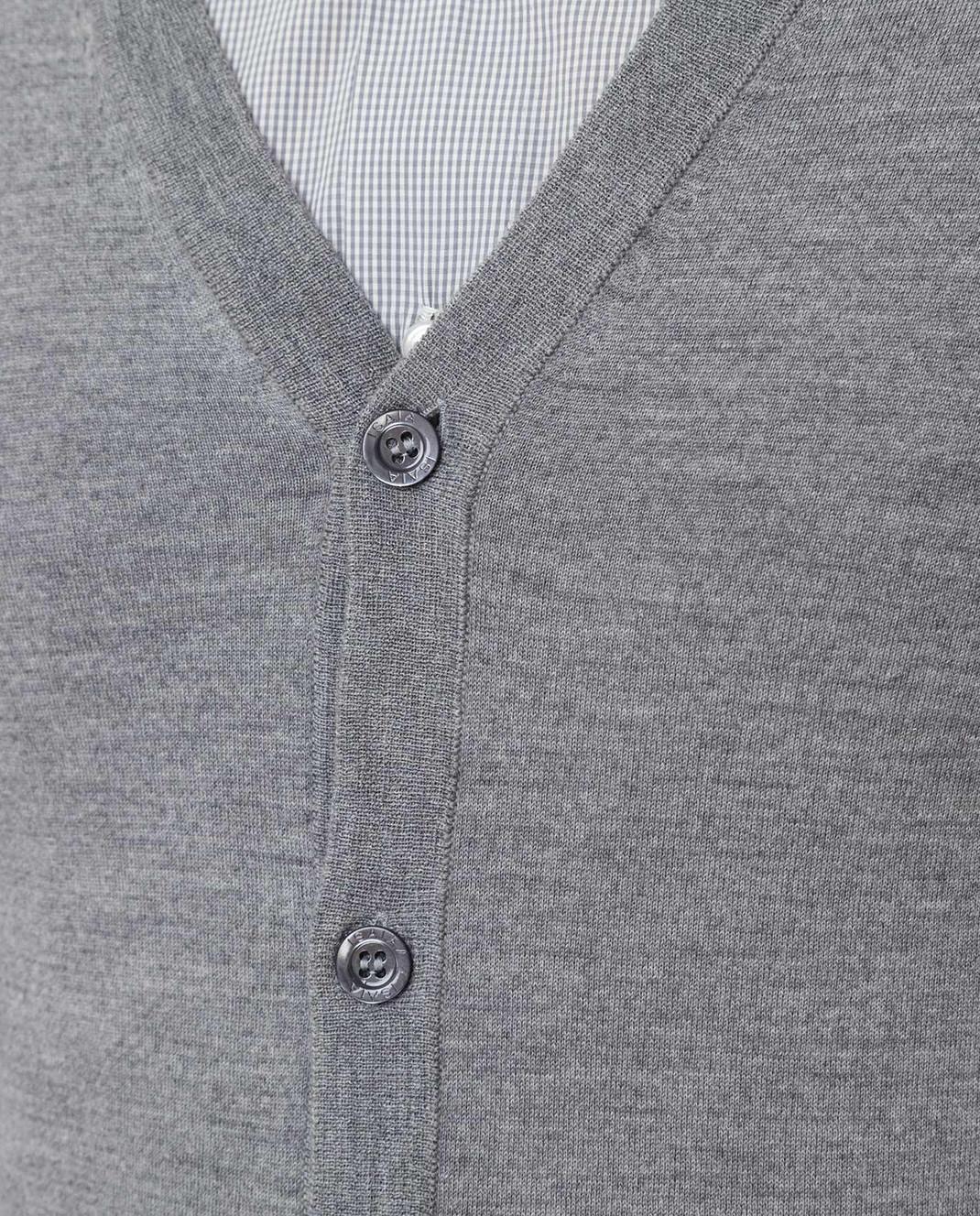 ISAIA Серый жилет из шерсти MG7051YP005 изображение 5