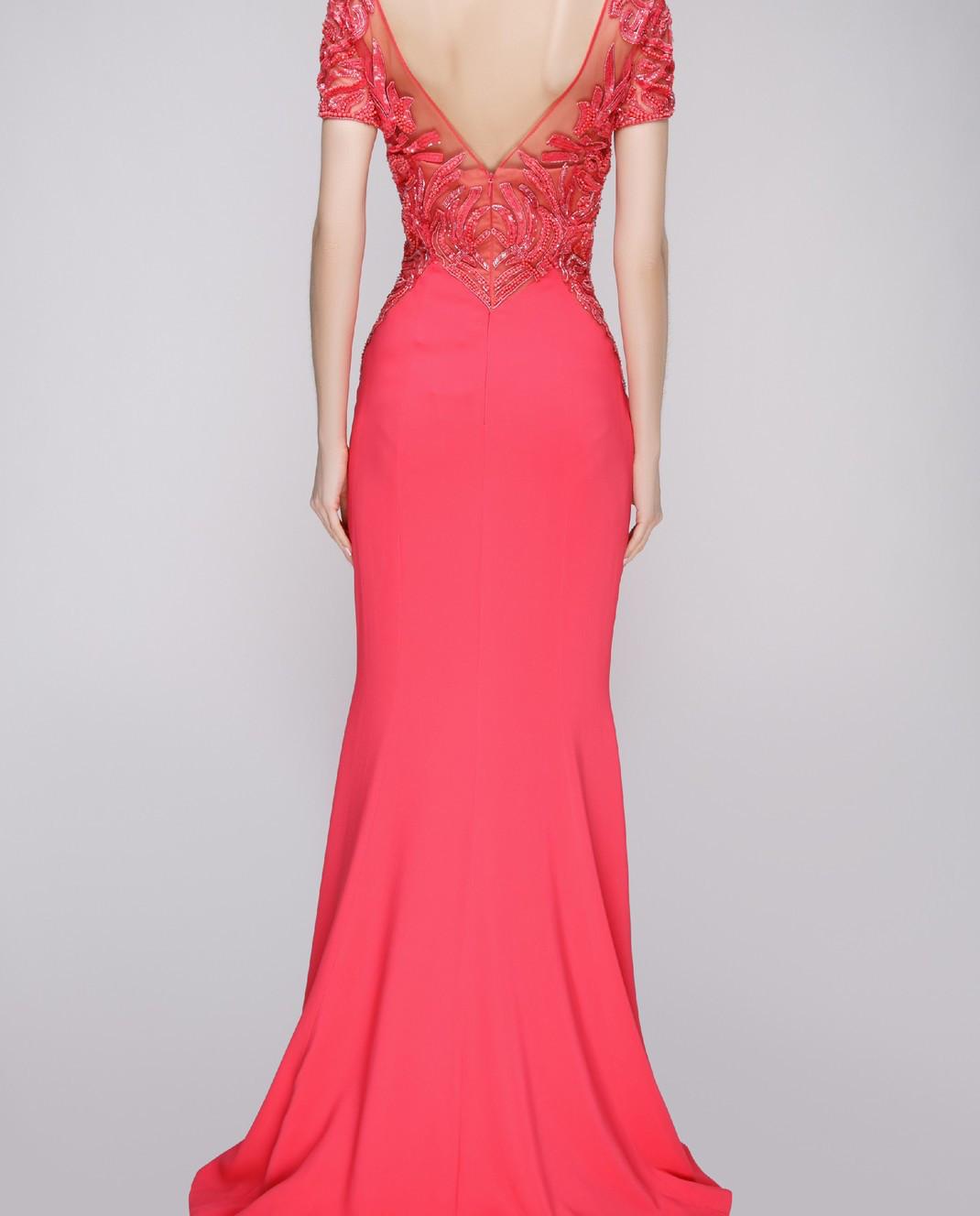 Zuhair Murad Розовое платье RDPF15029DL99 изображение 4