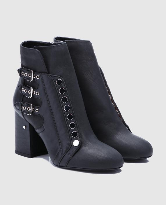 Черные кожаные ботильоны Selena hover
