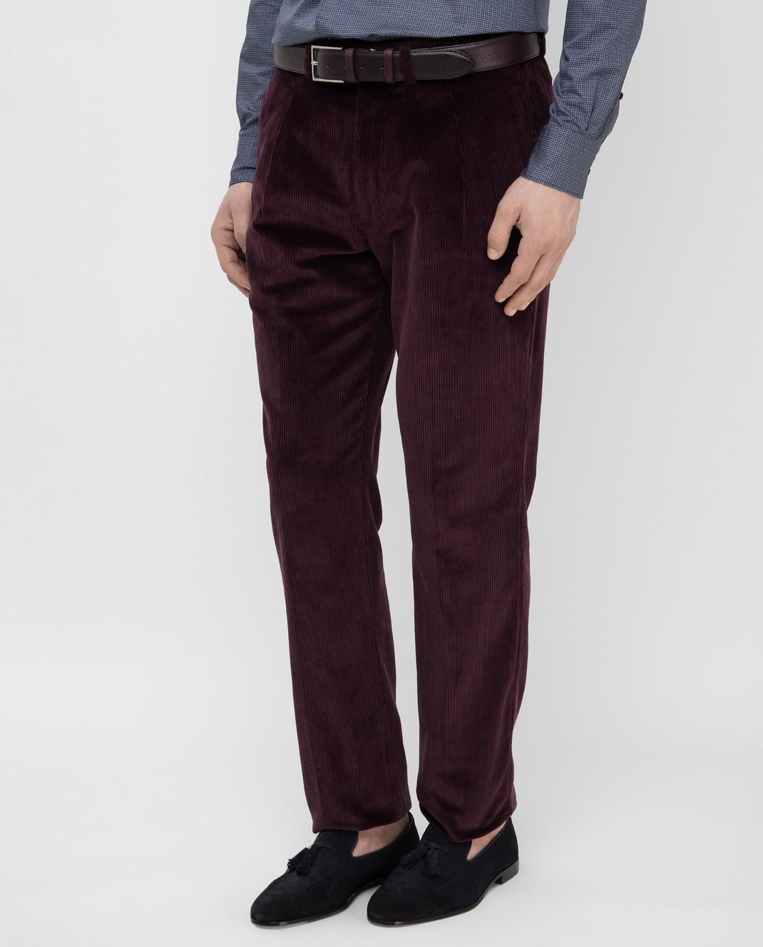 Stile Latino Фиолетовые брюки PUR32RCU13 изображение 3