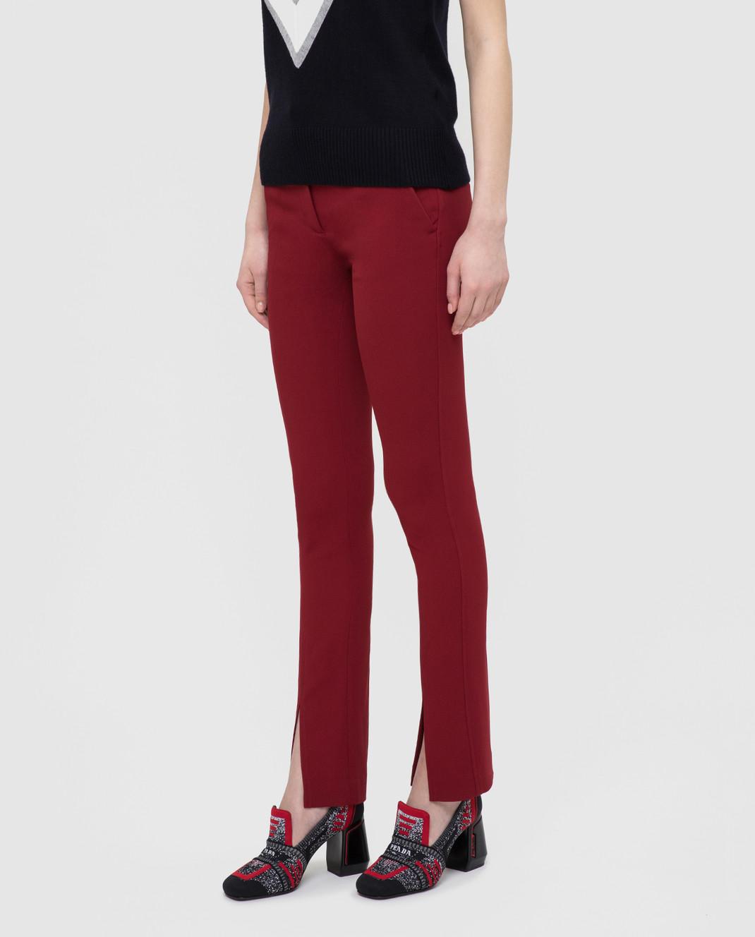 Victoria Beckham Бордовые брюки изображение 3