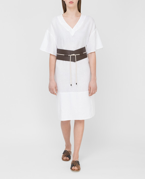 Белое платье из льна hover