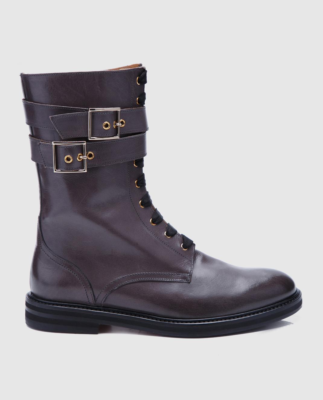 Doucal's Коричневые кожаные ботинки DD8260SOFIUF063