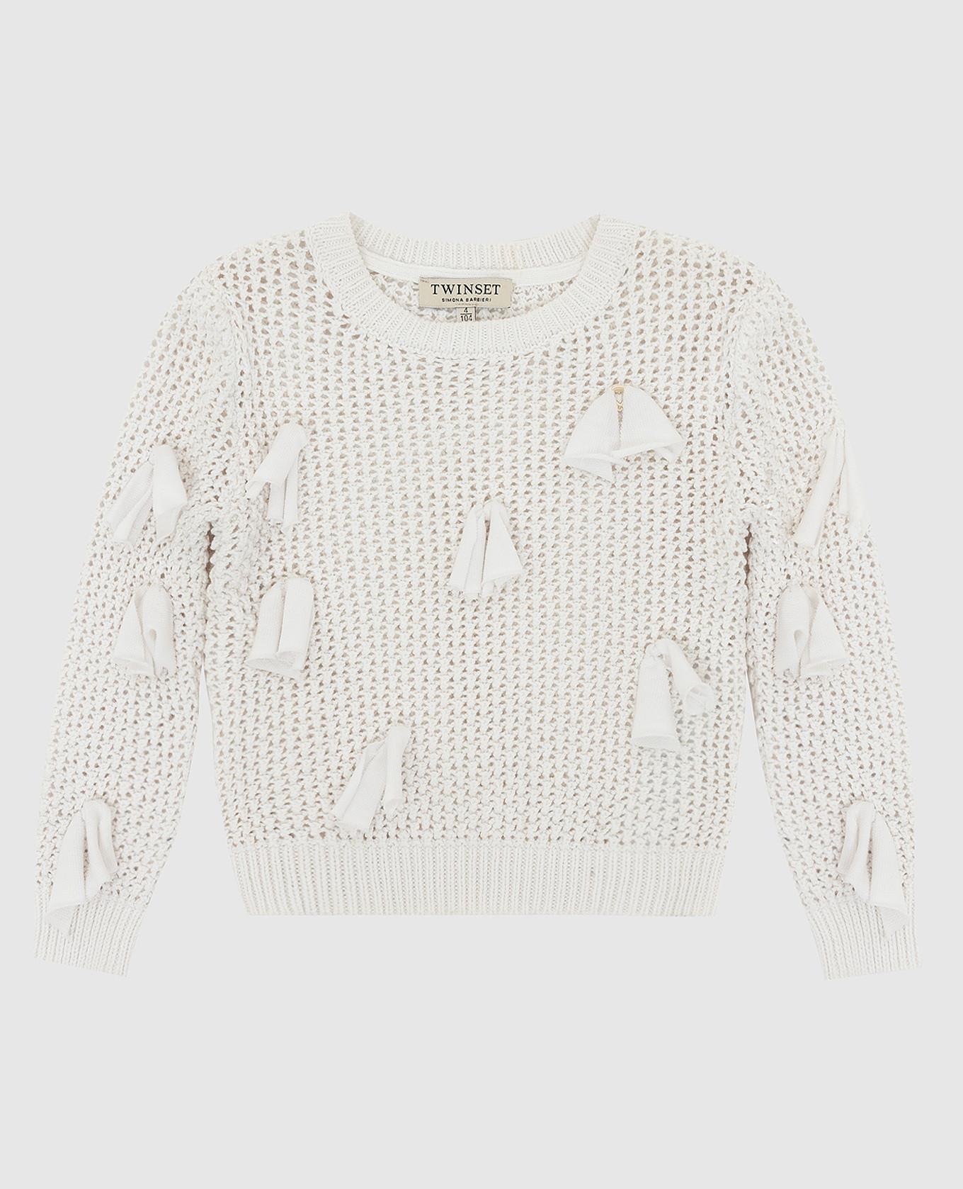 Детский белый свитер