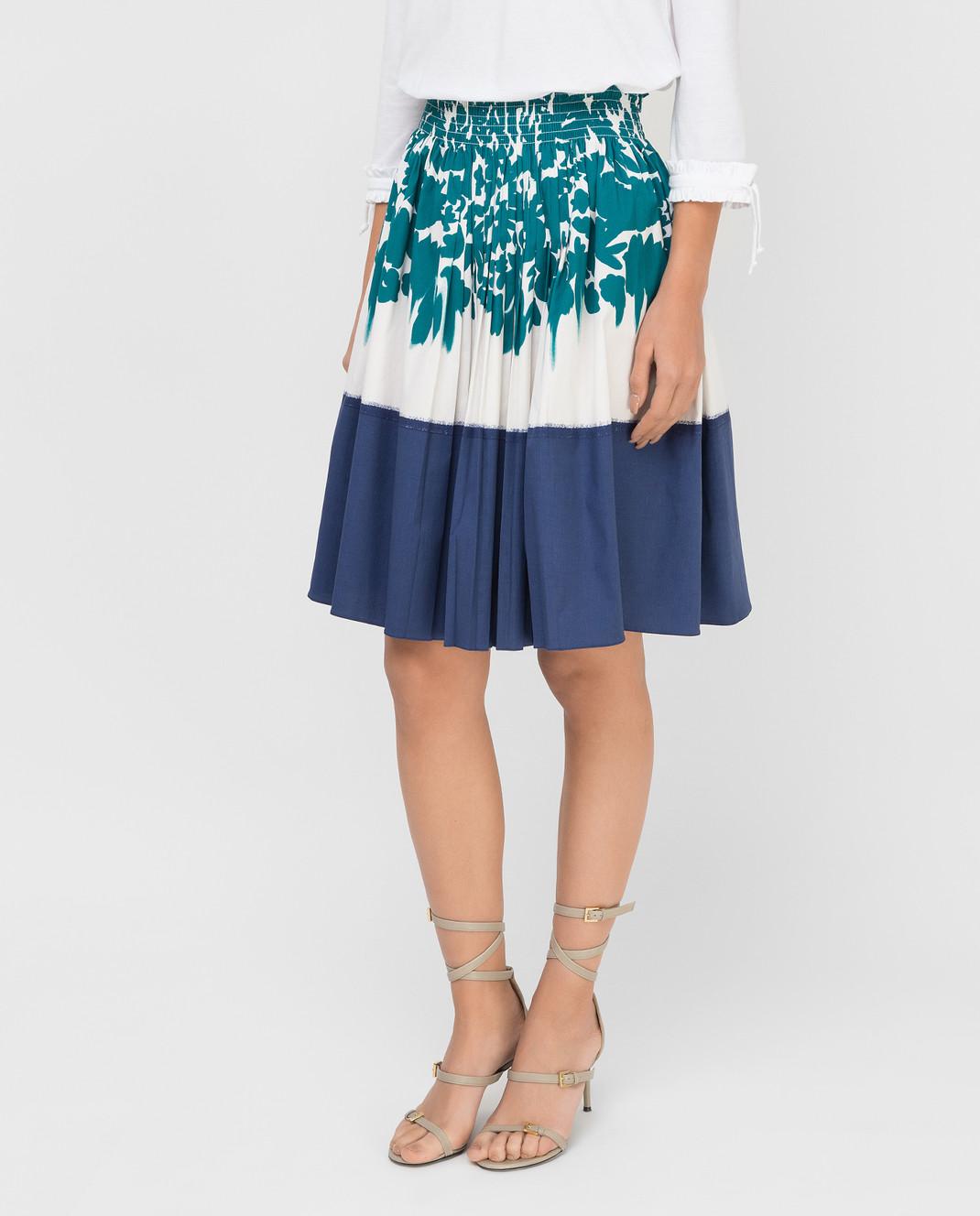 Prada Белая юбка изображение 3