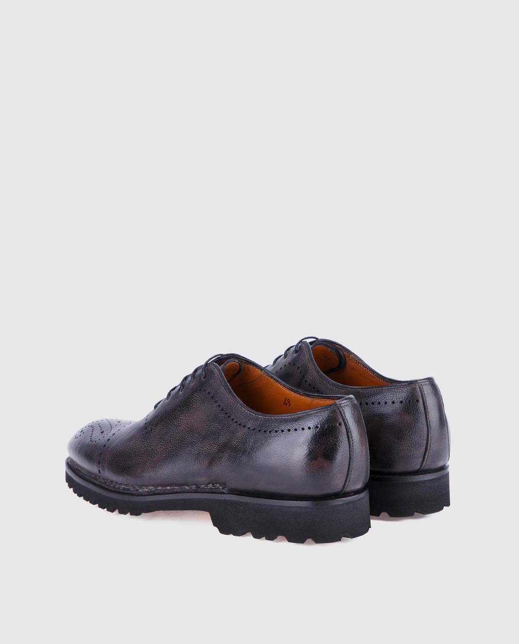 Bontoni Черные кожаные оксфорды BRERA изображение 2