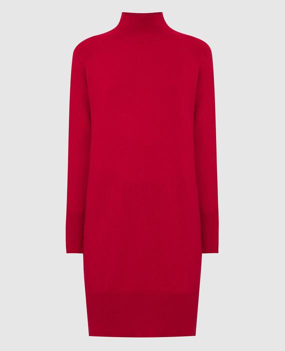 Красное платье из кашемира