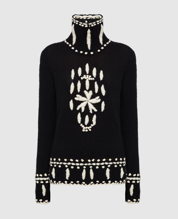 Черный свитер из кашемира
