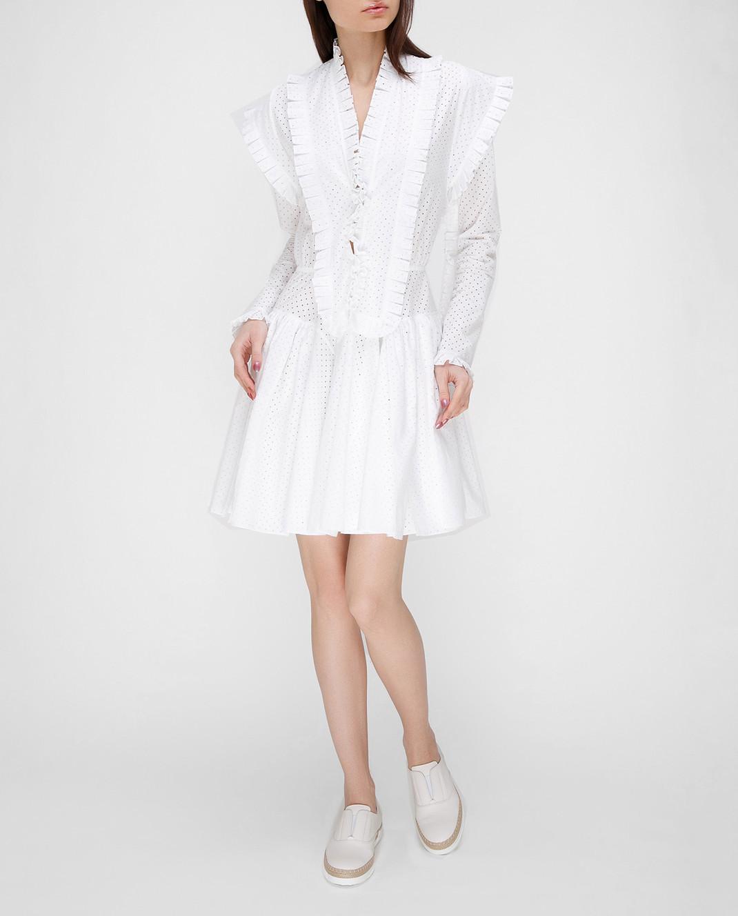 Azzedine Alaia Белое платье 7S9R054RTL48 изображение 2