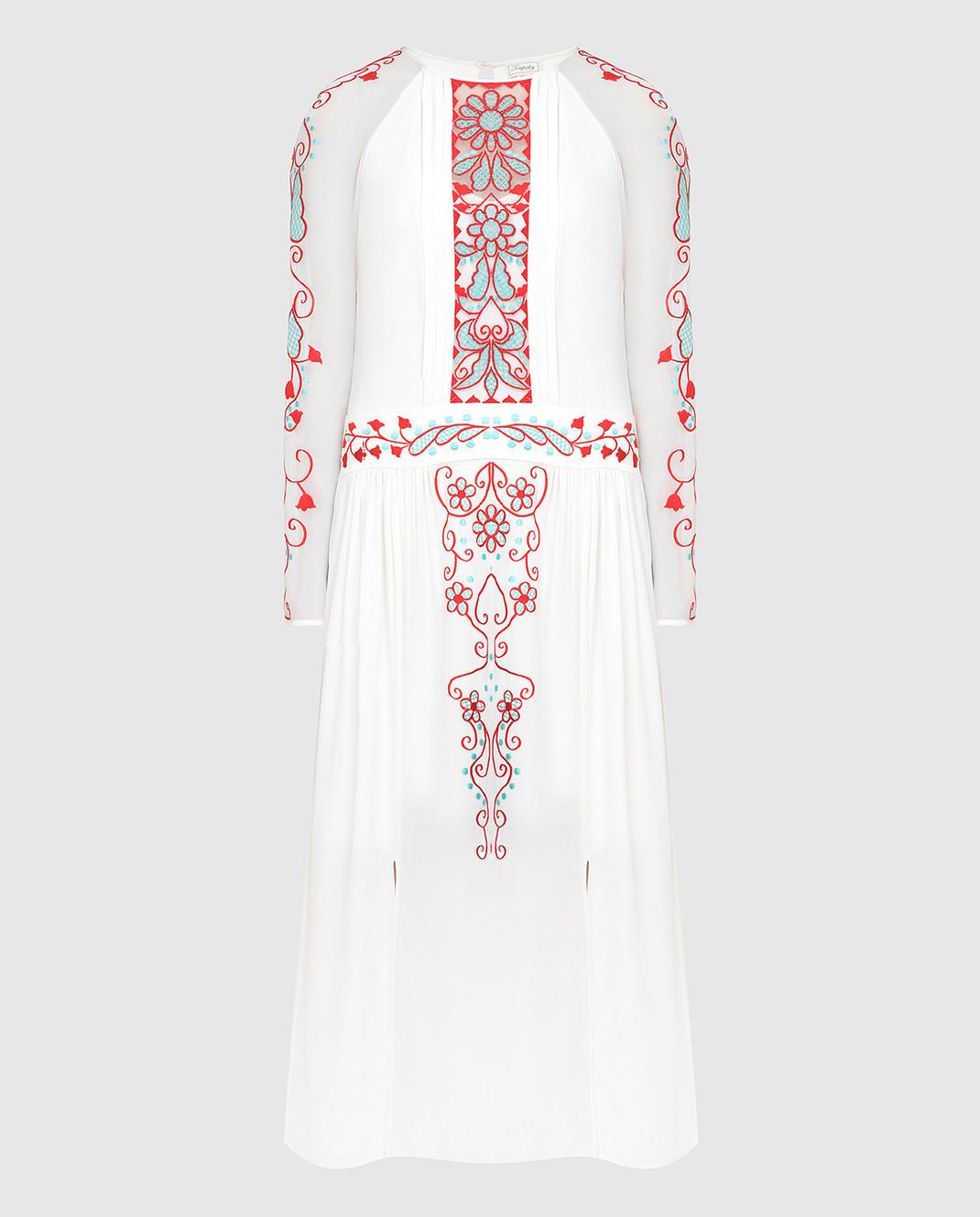 Temperley London Белое платье из шелка 16S73650959