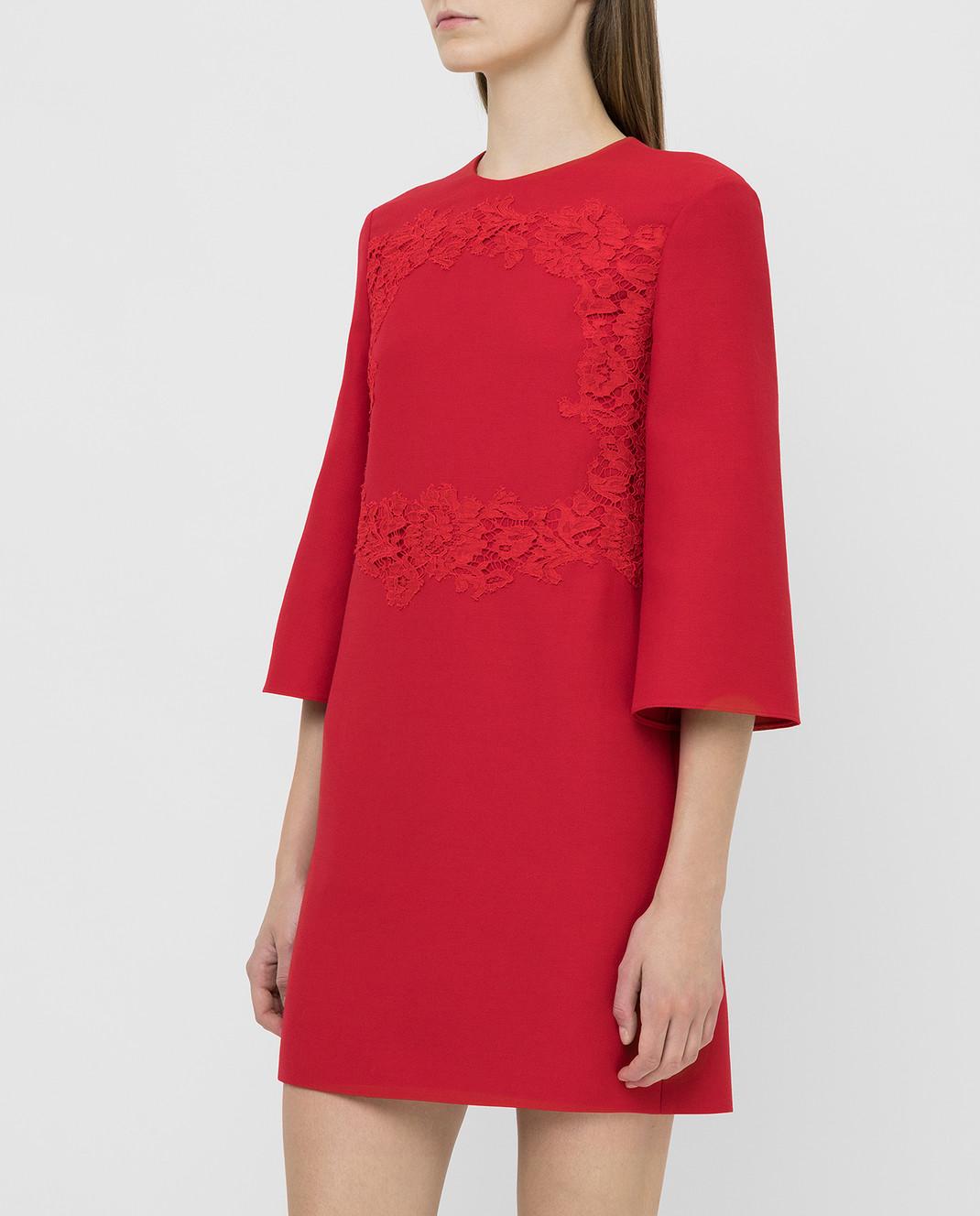 Valentino Красное платье из шерсти и шелка SB0VAPN0360 изображение 3