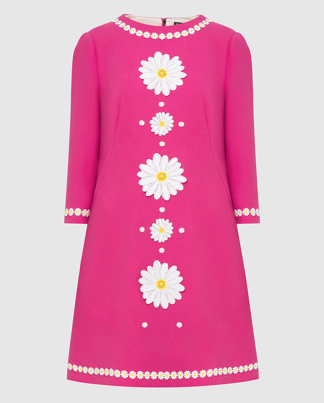 Dolce&Gabbana Розовое платье из шерсти F6UM4ZFU2TZ