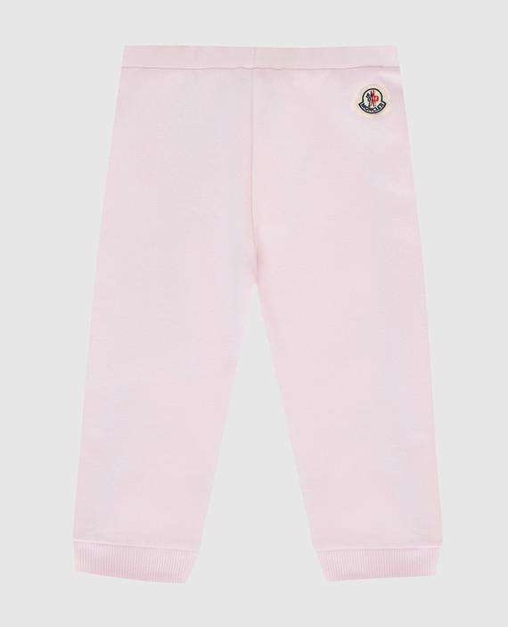 Детские розовые спортивные брюки hover