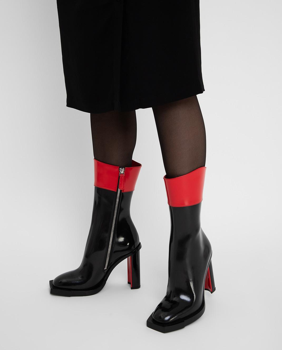 Alexander McQueen Черные кожаные сапоги изображение 2