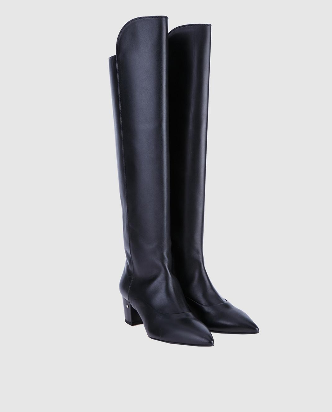 Laurence Dacade Черные кожаные сапоги SANDRINE изображение 2