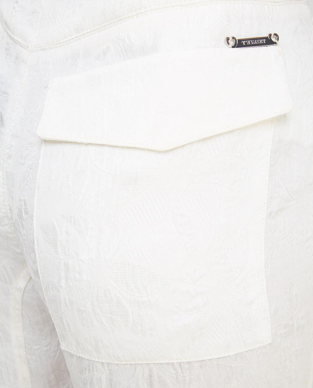 Twin Set Светло-бежевые брюки PS72XD изображение 5
