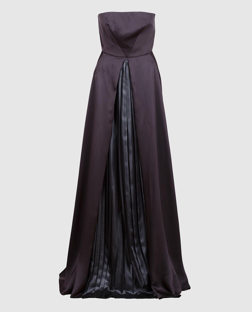 Cedric Charlier Черное платье из шелка A0405