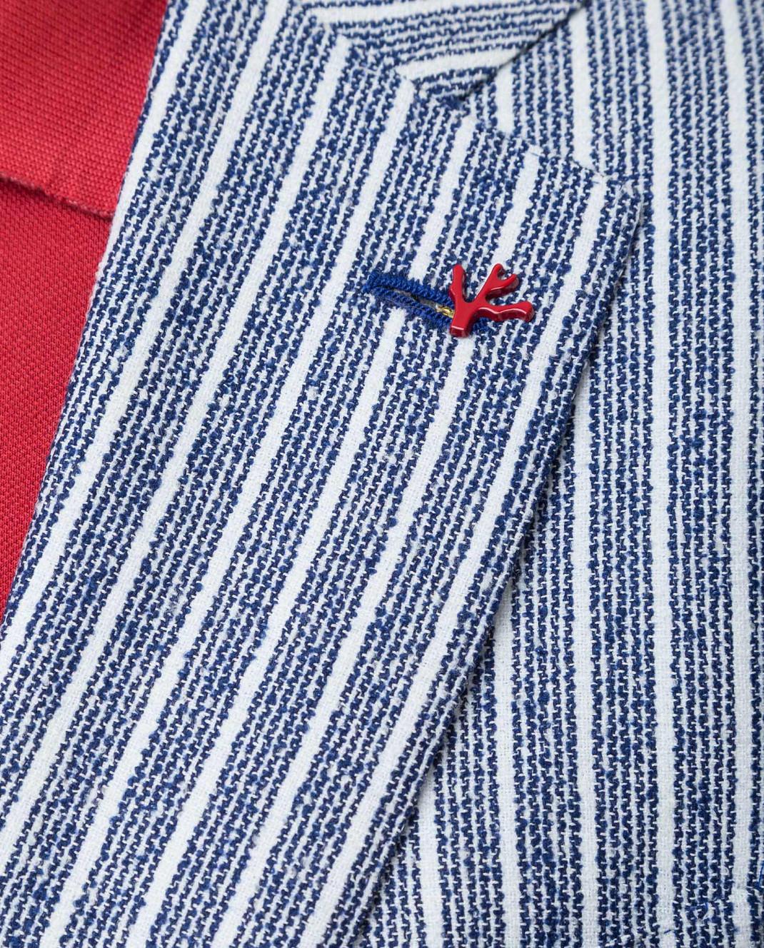 ISAIA Синий пиджак изображение 5