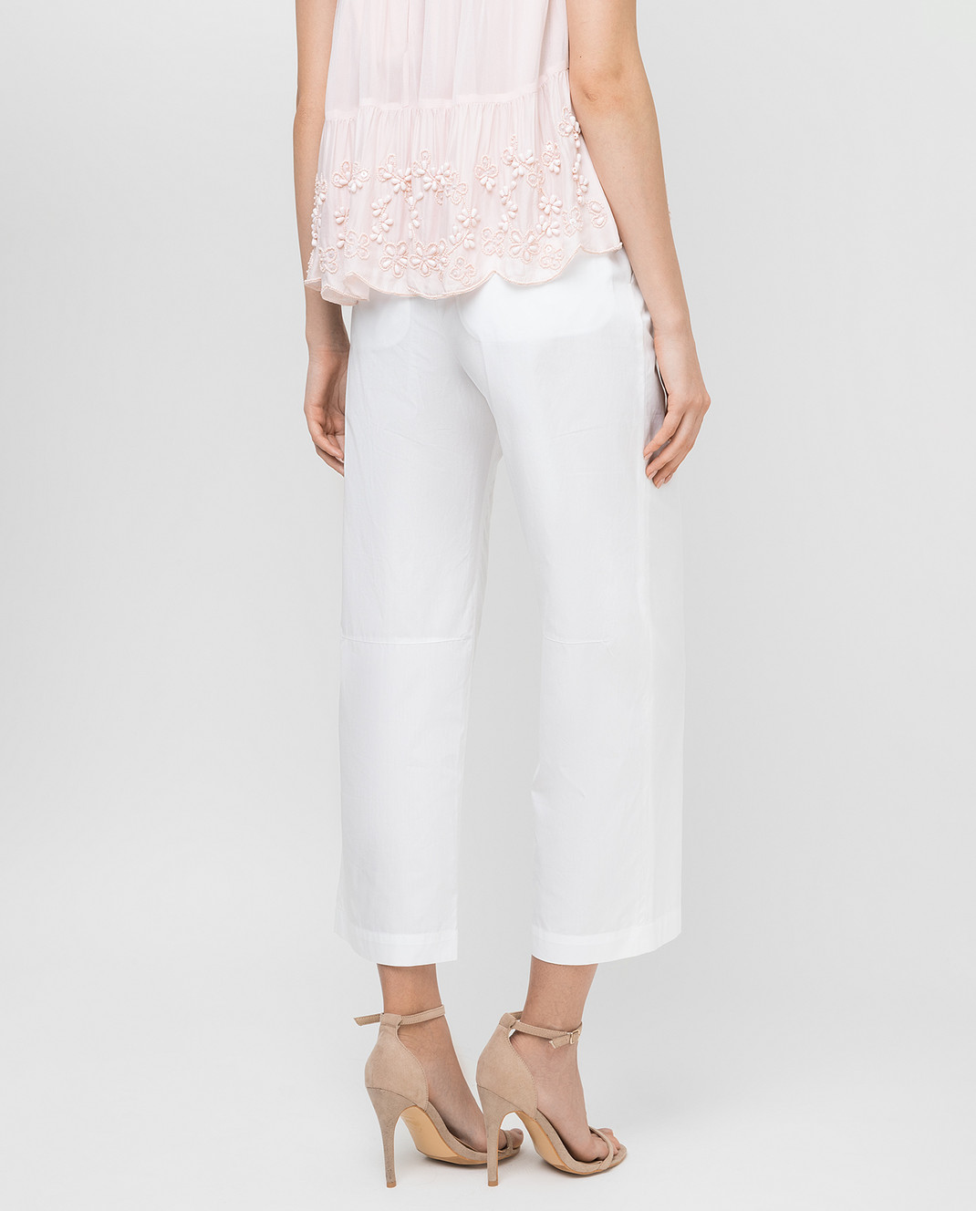 Ermanno Scervino Белые брюки изображение 4