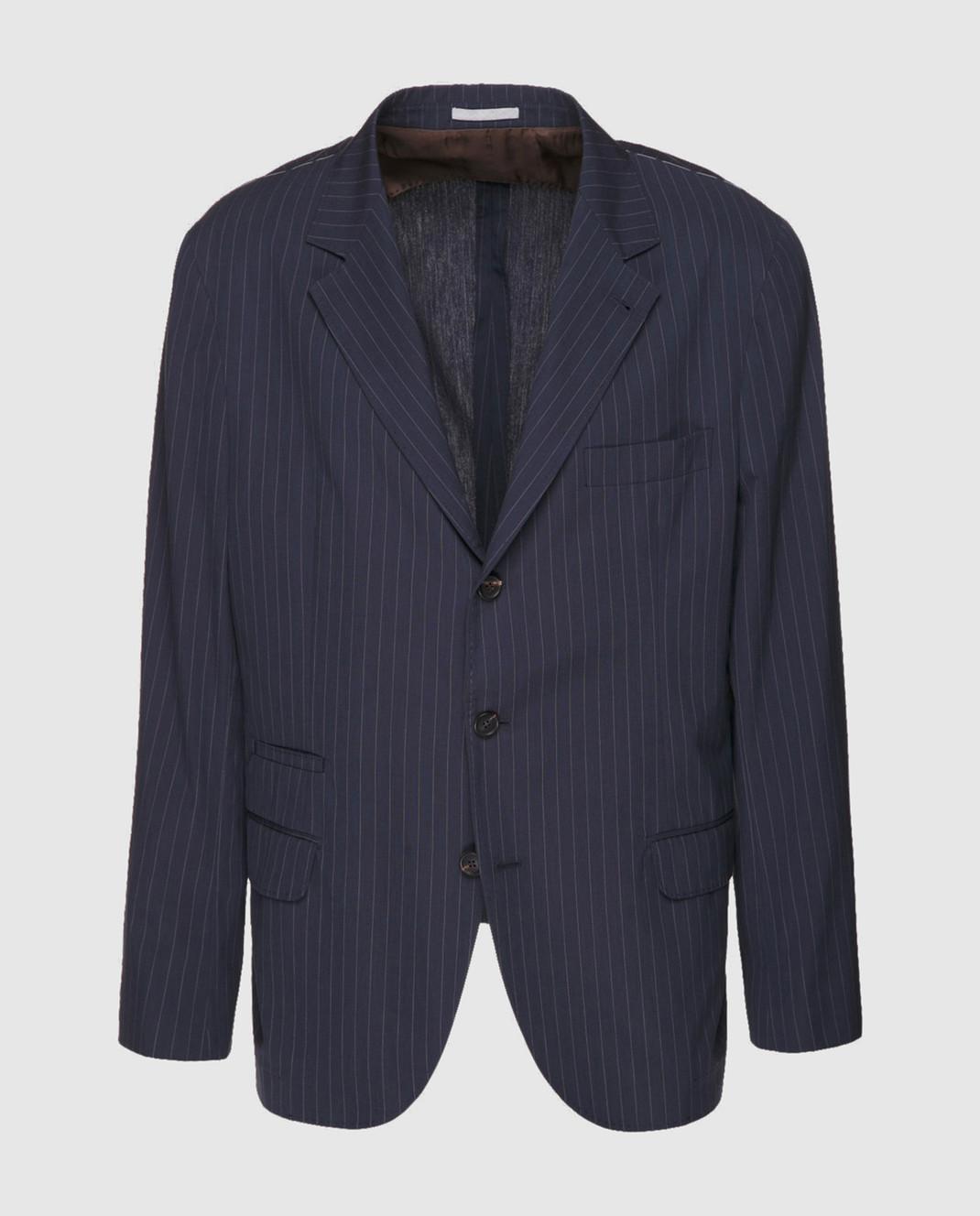 Brunello Cucinelli Синий пиджак MD4037BTD