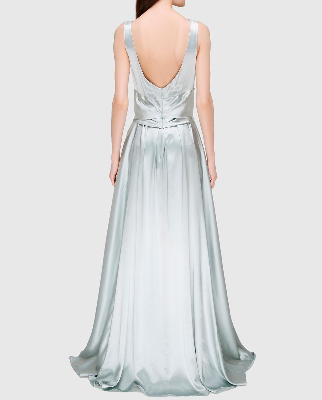 Collette Dinnigan Светло-серое платье из шелка 11115082 изображение 4
