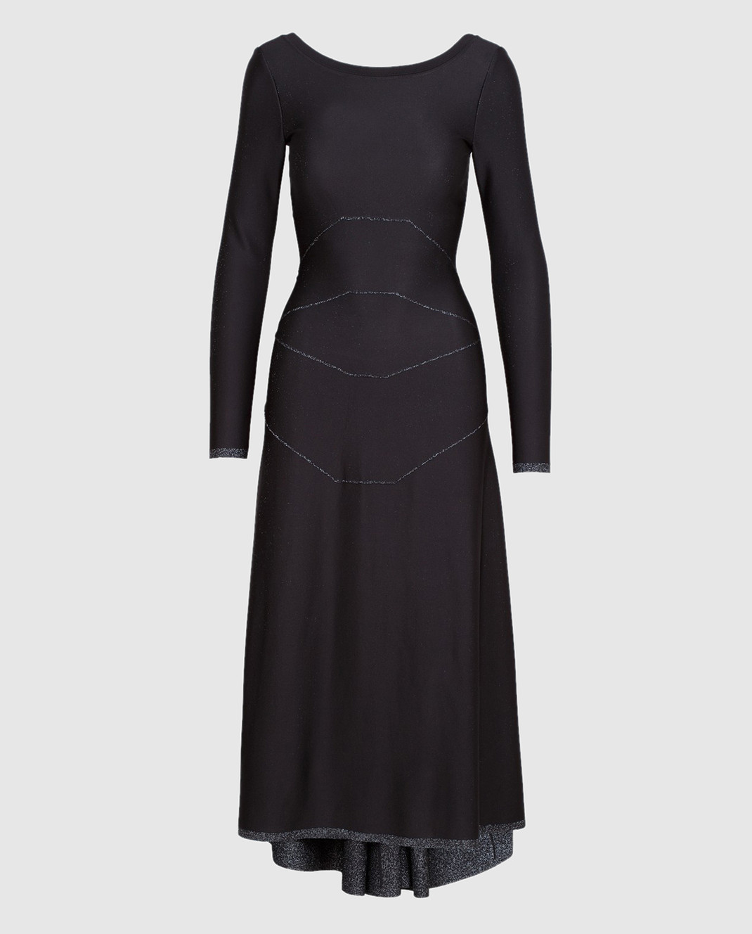 Azzedine Alaia Черное платье с V-образным вырезом на спине 6H9RG99LM288