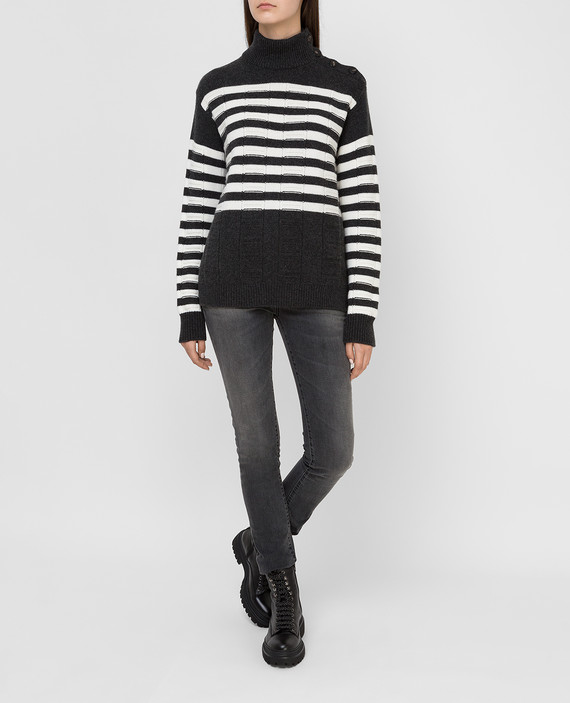 Темно-серый свитер из кашемира hover