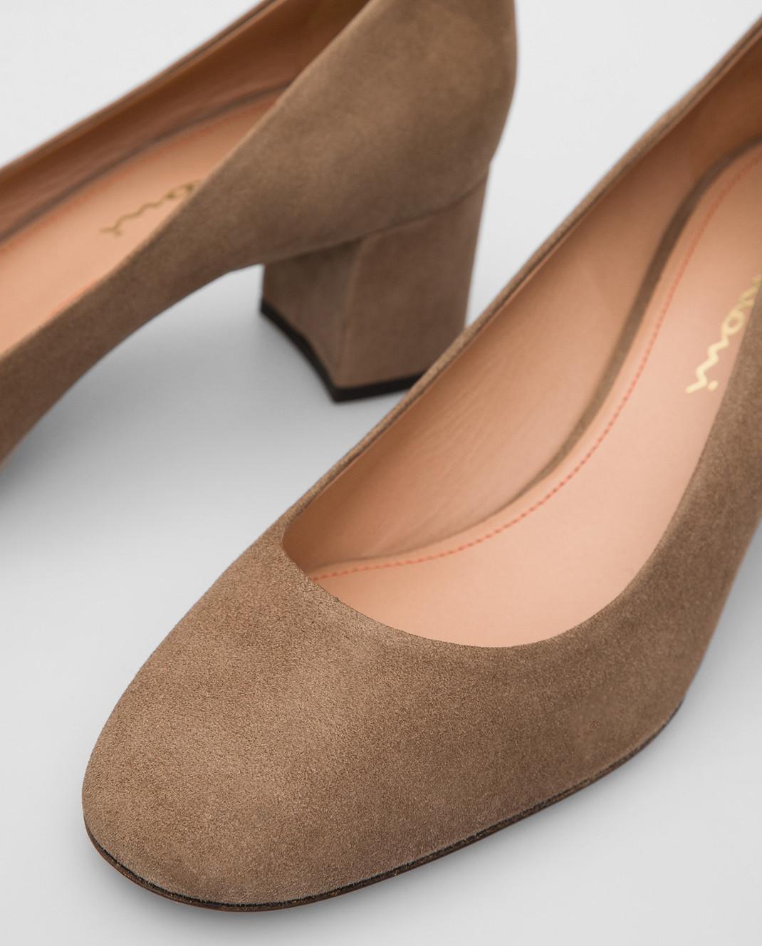 Santoni Бежевые замшевые туфли изображение 5