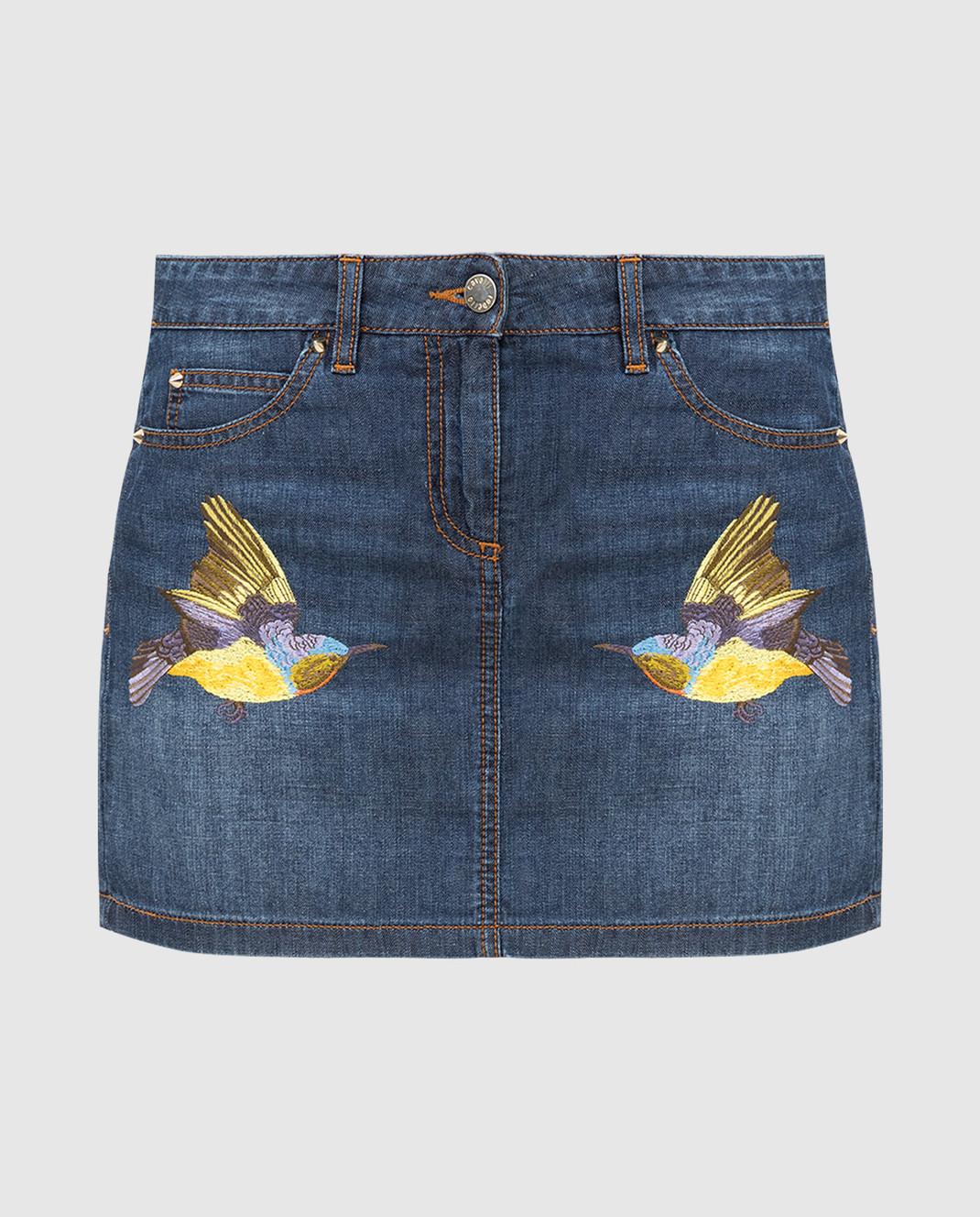 Roberto Cavalli Синяя джинсовая юбка CQJ320