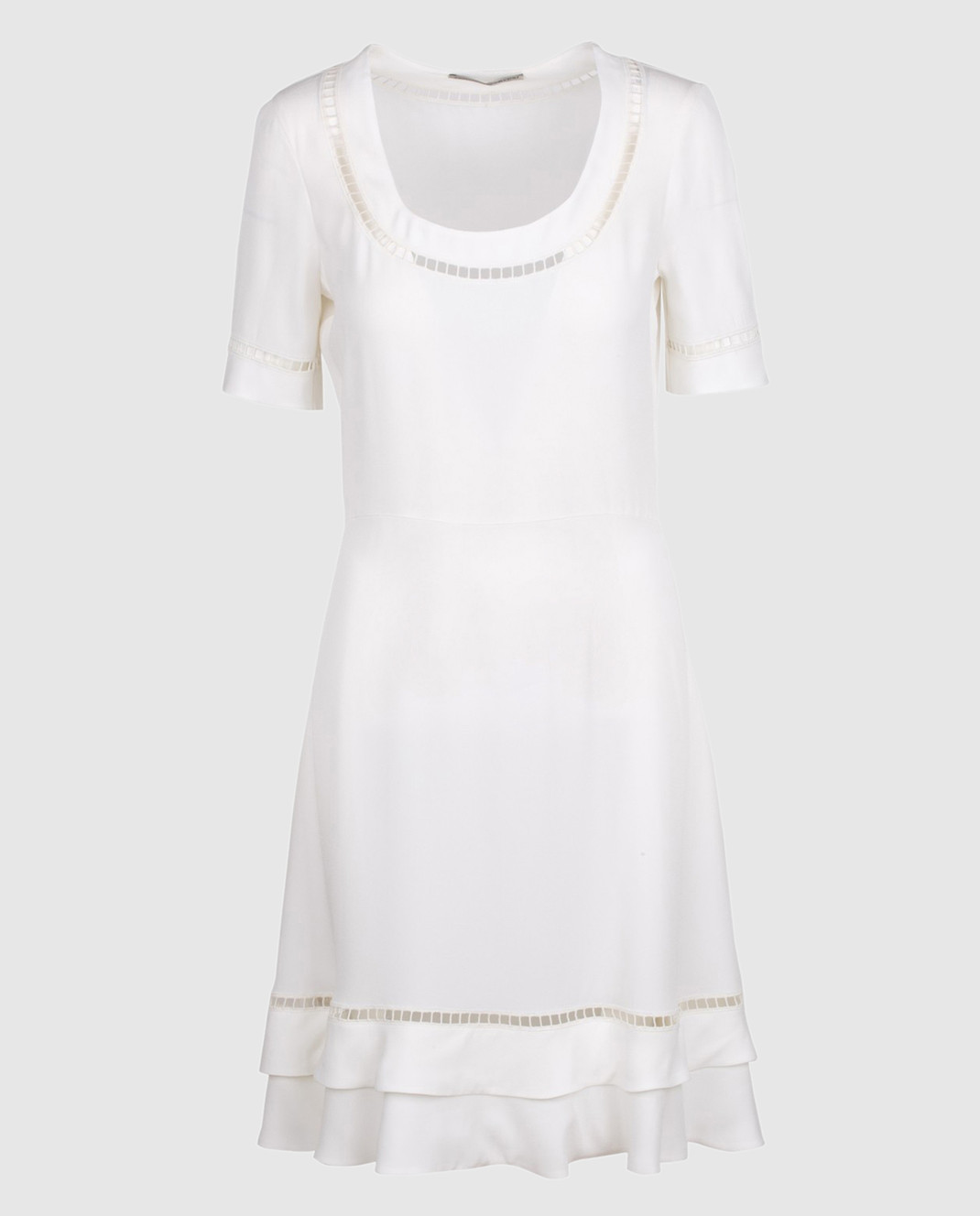Ermanno Scervino Белое платье с кружевом D302Q320RVJ