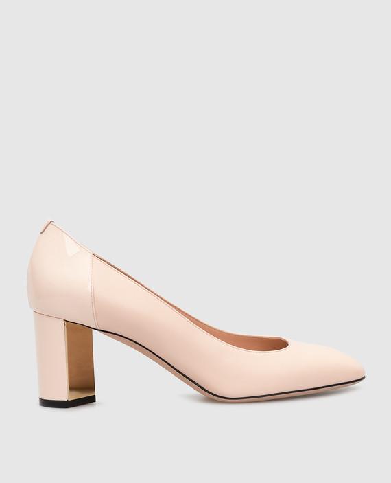 Пудровые кожаные туфли