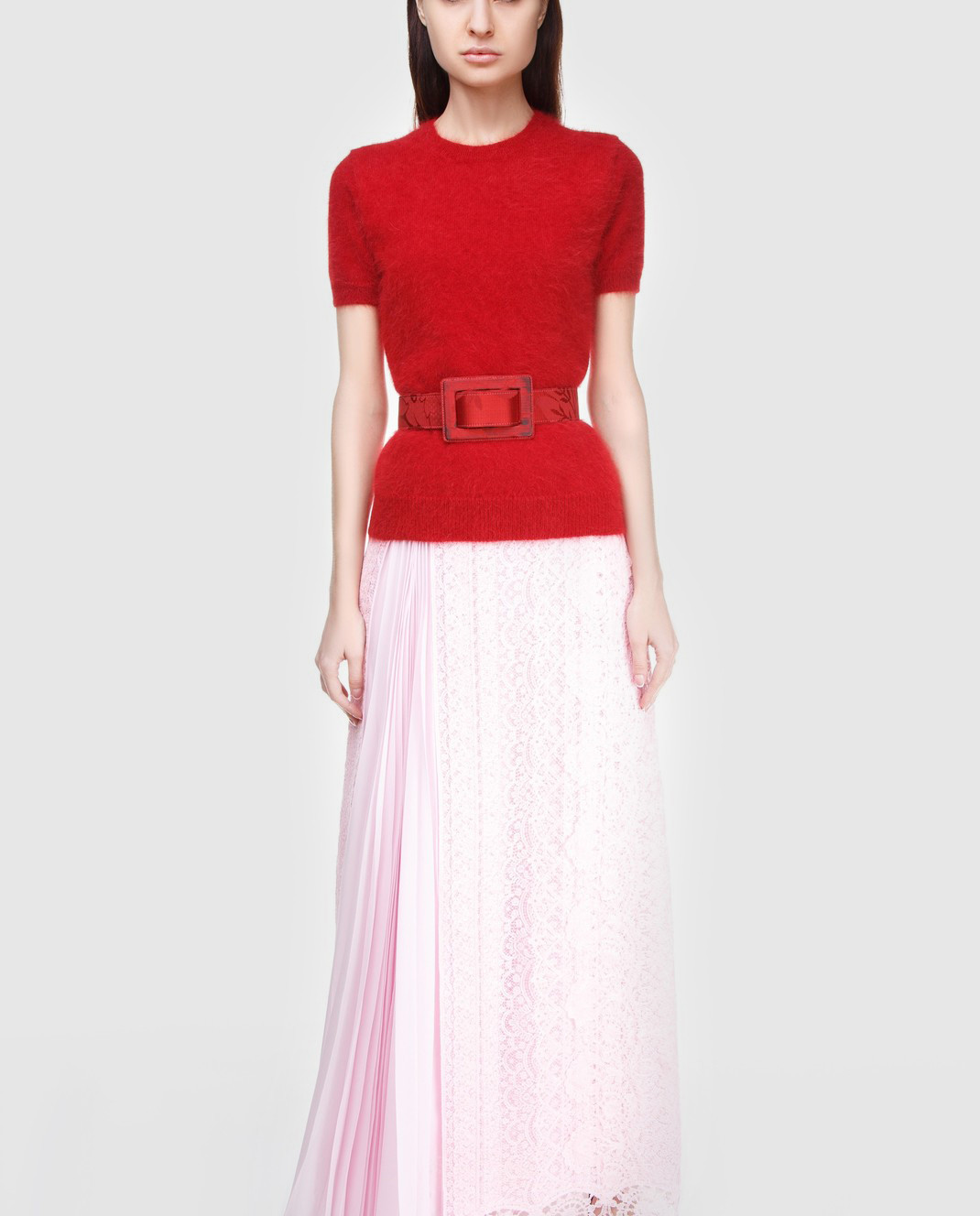 Ermanno Scervino Розовая юбка D312O707FDHUM изображение 2