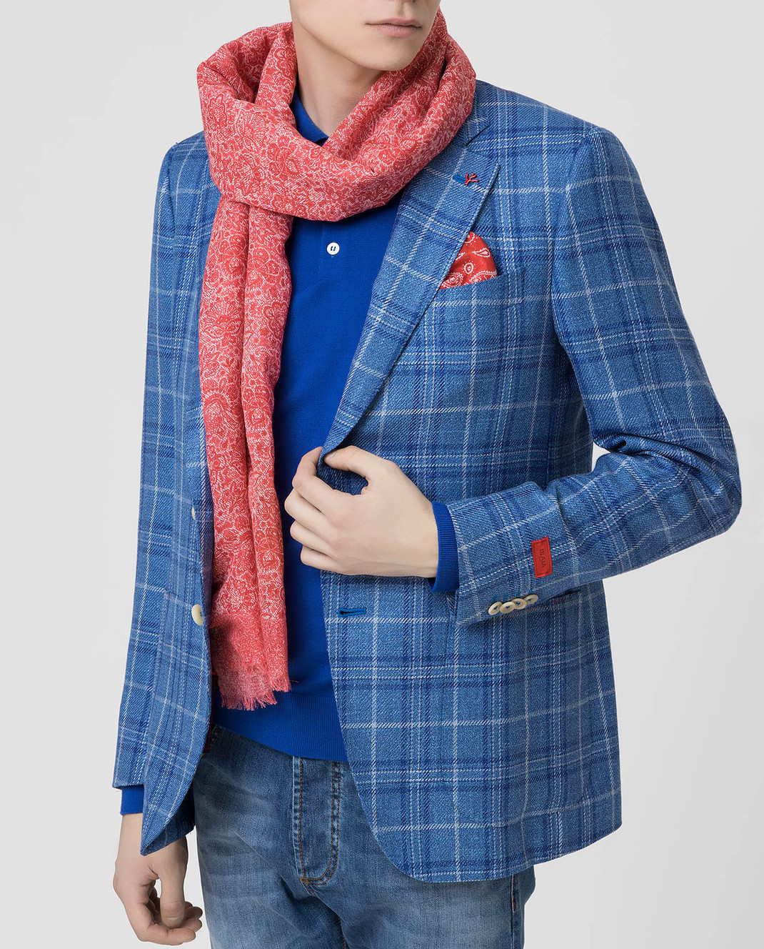 ISAIA Красный шарф SC0087Z0047 изображение 2