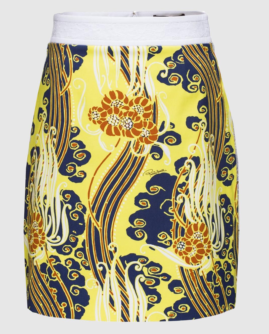 Roberto Cavalli Желтая юбка CKT304