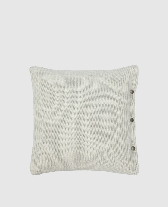 Светло-серая подушка из кашемира