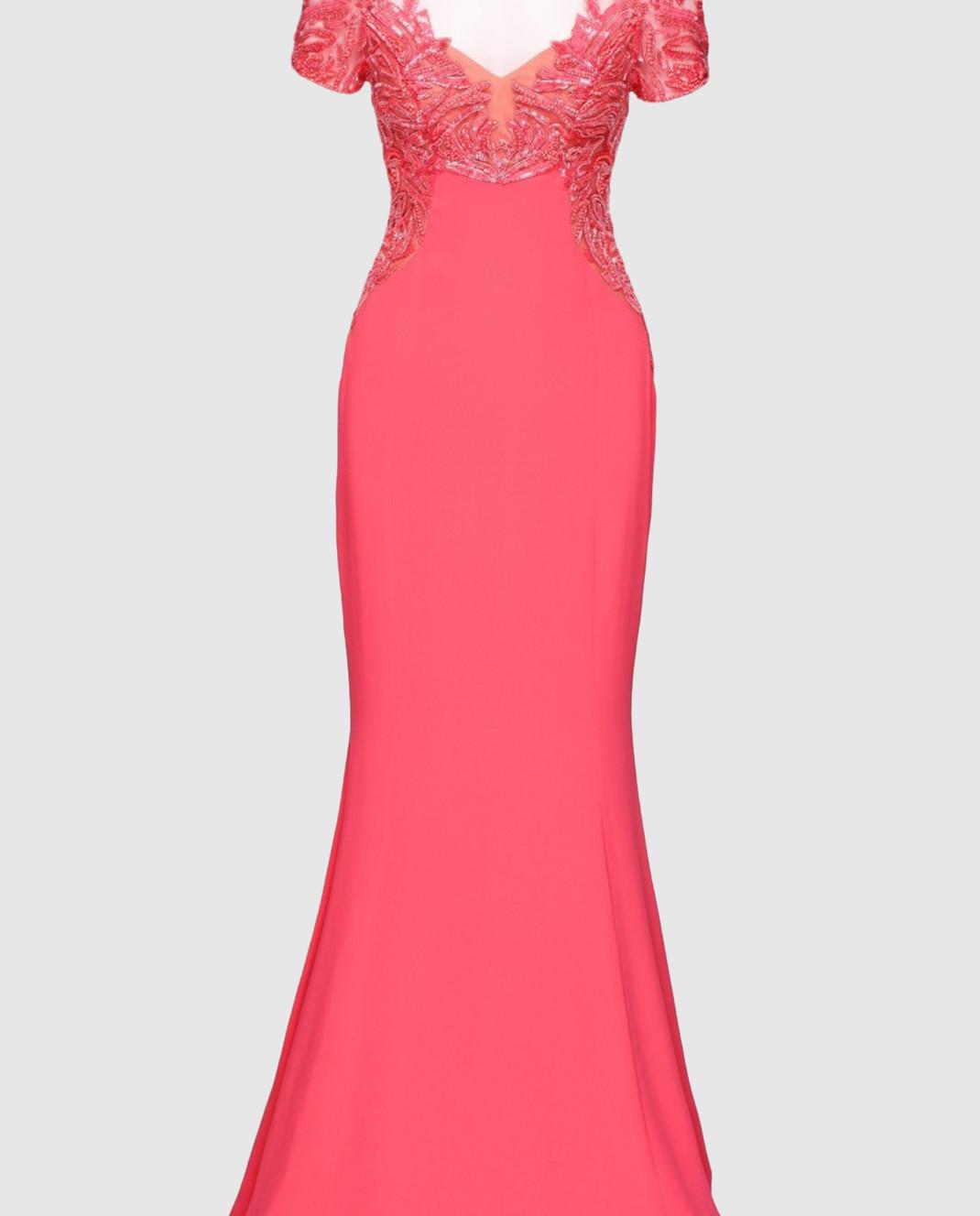 Zuhair Murad Розовое платье RDPF15029DL99