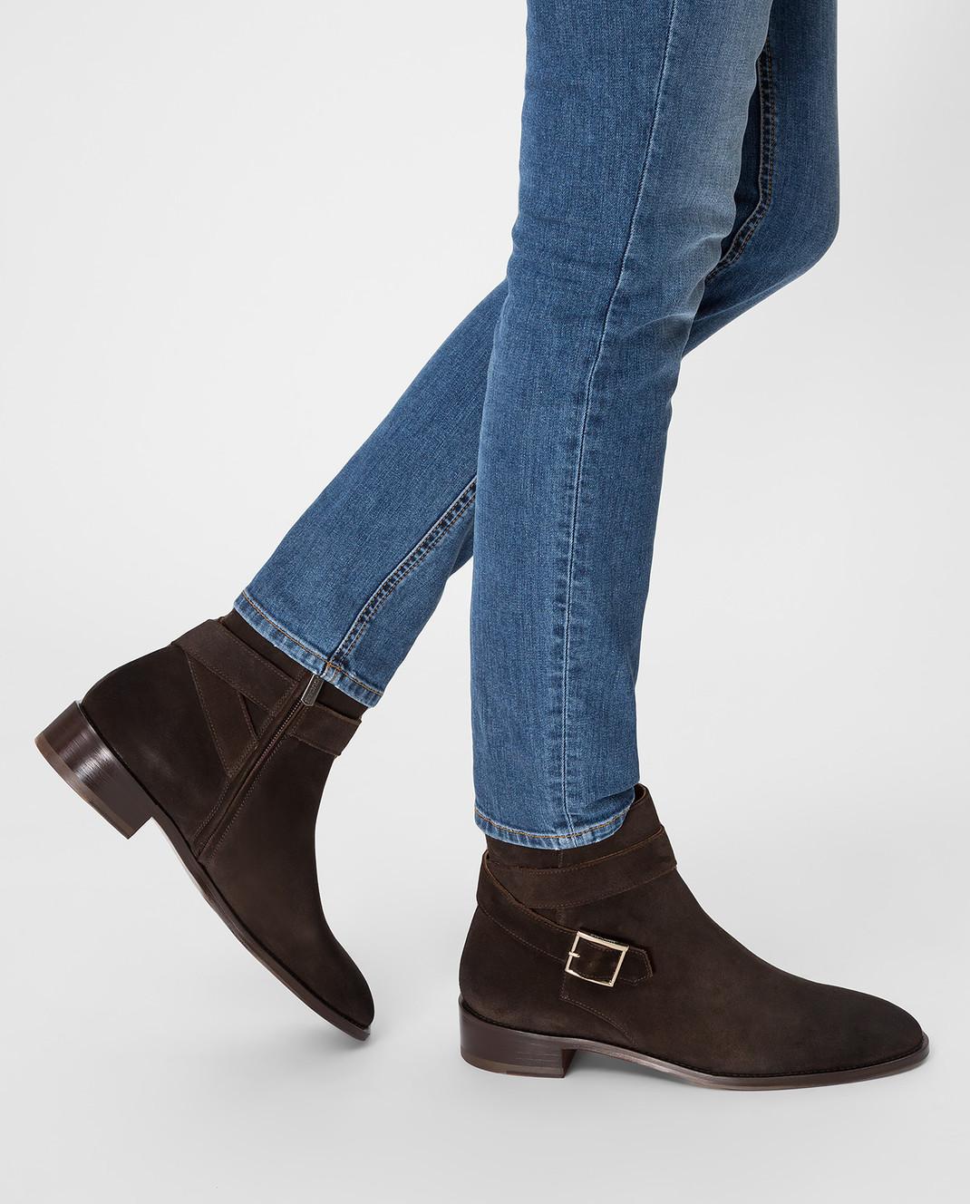 Doucal's Коричневые замшевые ботинки DD8252PATCUF083 изображение 7