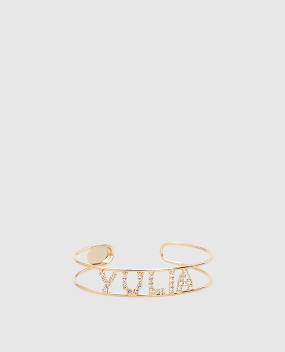 Золотистый браслет с кристаллами
