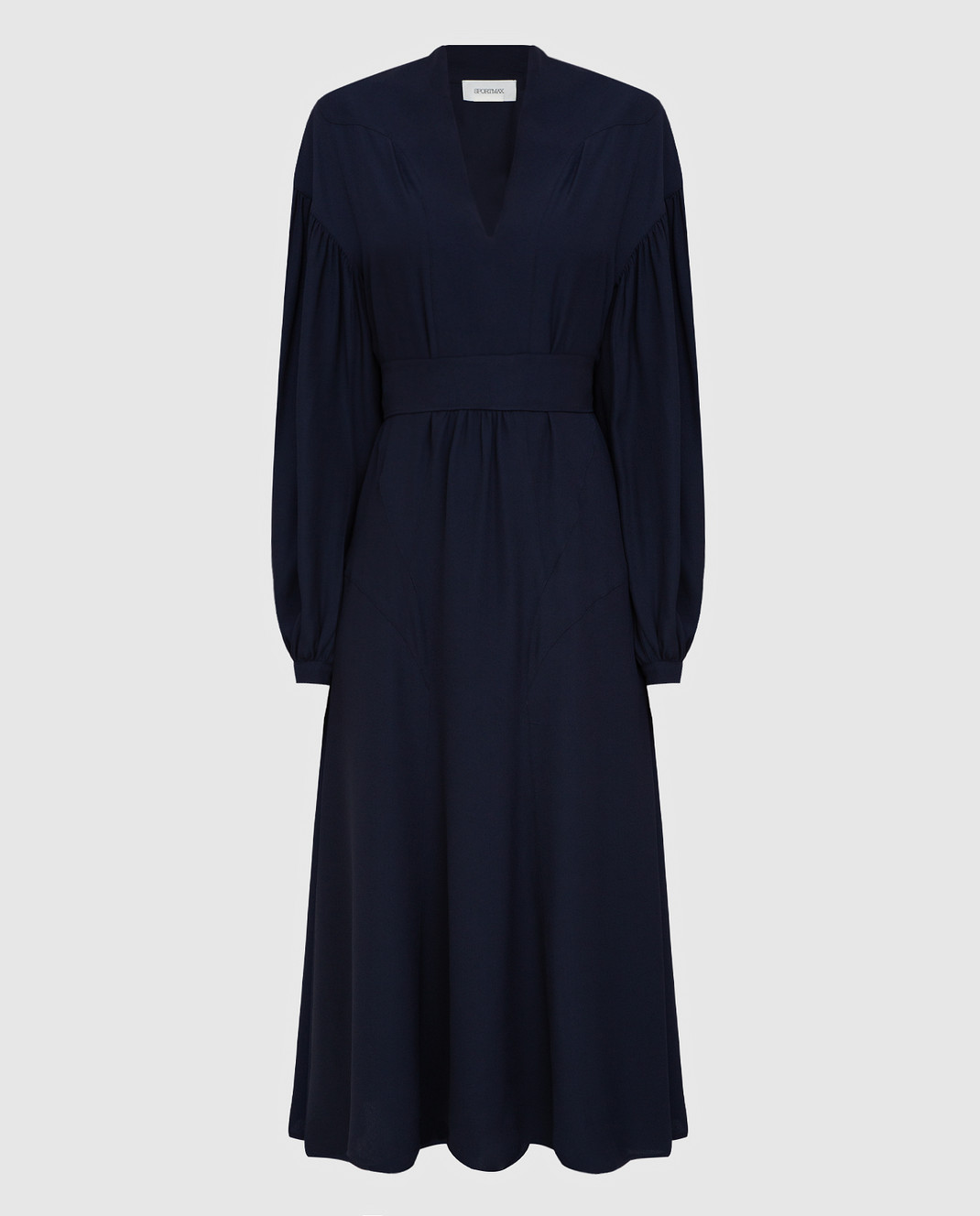 Max Mara Sportmax Темно-синее платье изображение 1