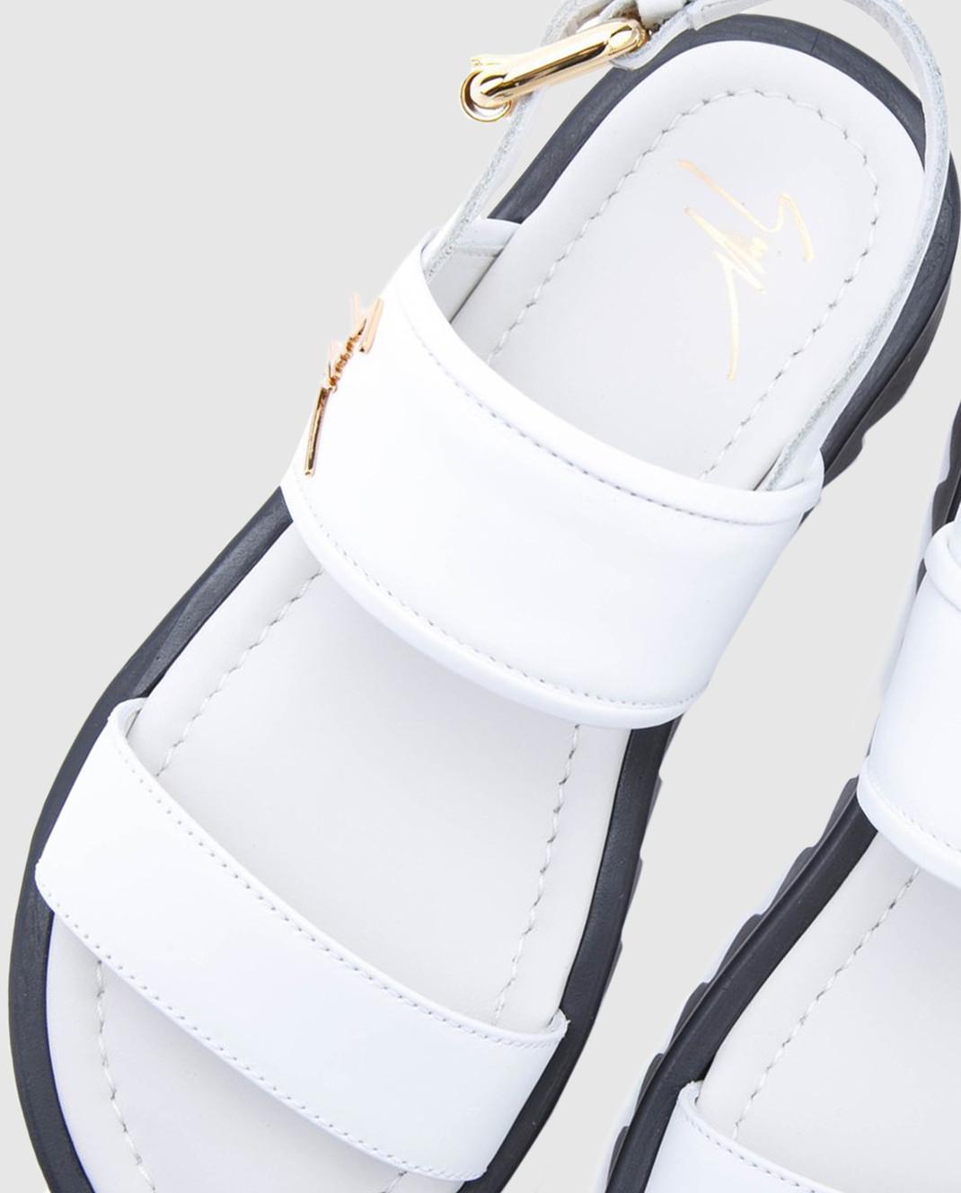 Giuseppe Zanotti Белые кожаные сандалии  SBE8409002 изображение 4