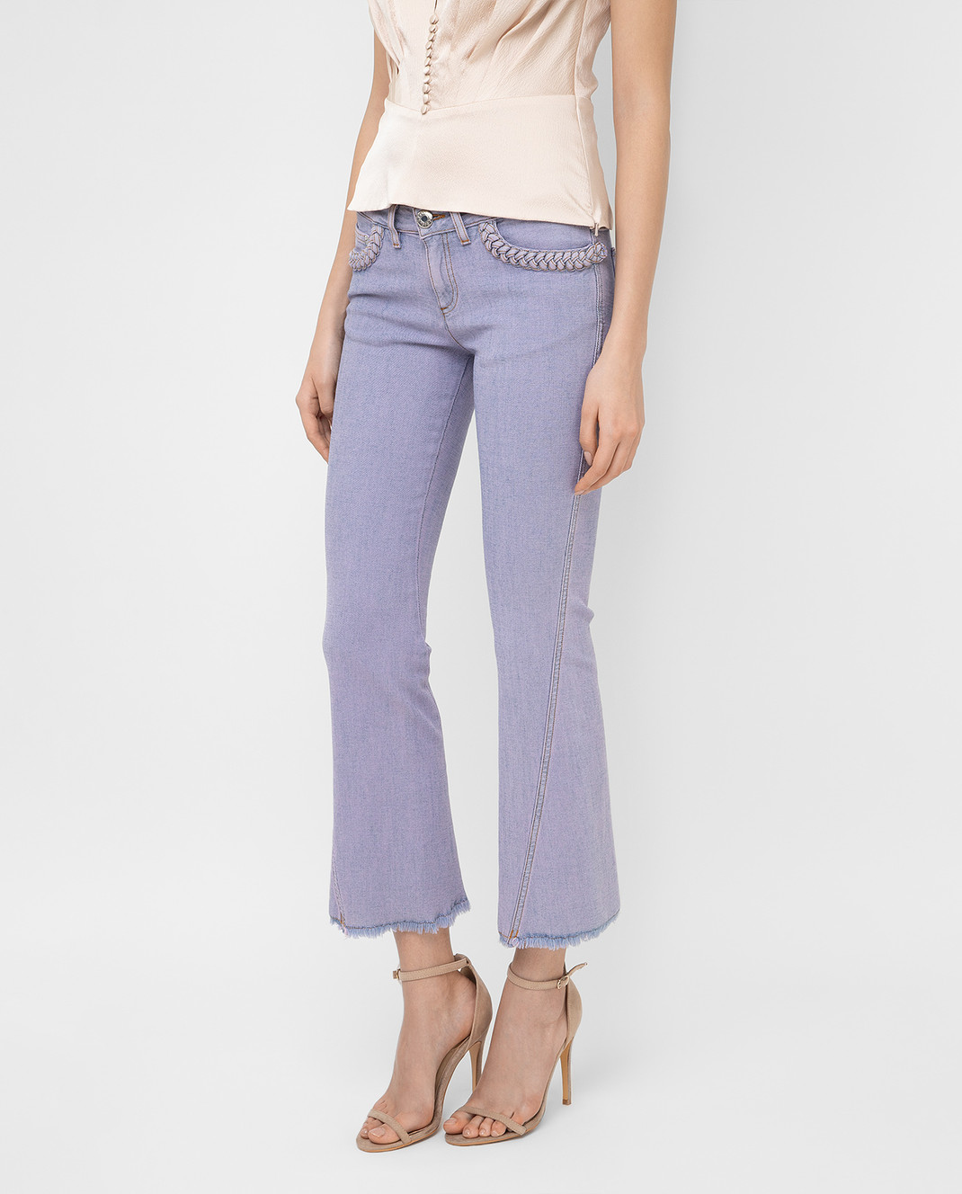 See by Chloe Сиреневые джинсы S7EDP12 изображение 3