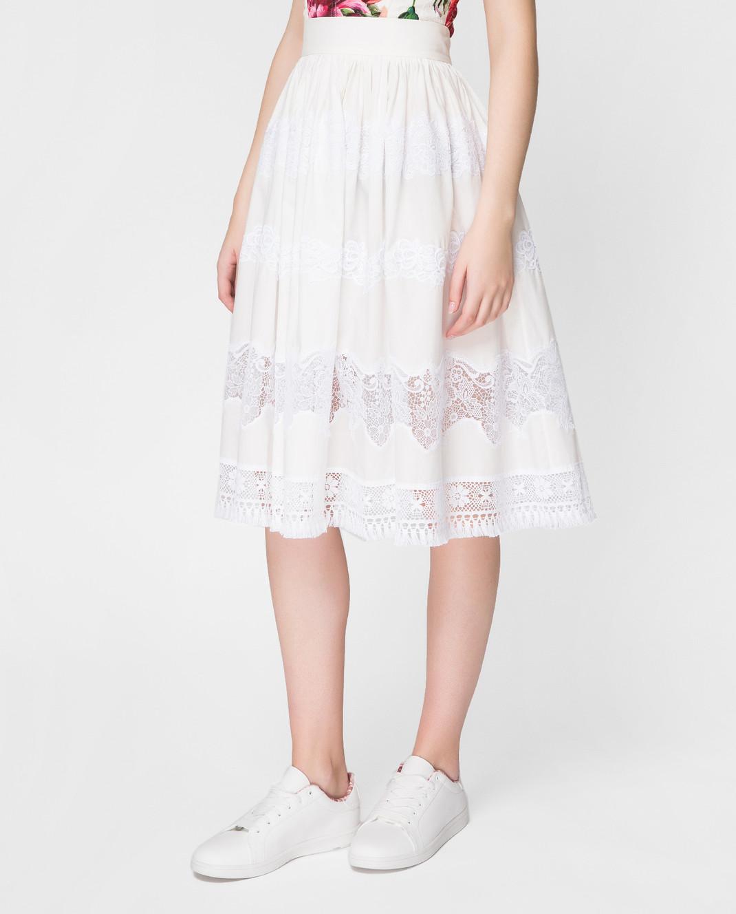 Dolce&Gabbana Белая юбка F4BC7TFU5L5 изображение 3